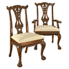 Design Toscano Set of 6 Cupid's Bow Dining Chairs