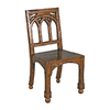 Design Toscano Gothic Revival Rectory Mahogany Dining Chair