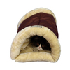 Armarkat Indian Red/Beige Faux Suede and Faux Fur Cat Bed