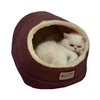Armarkat Red/Beige Faux Suede and Faux Fur Cat Bed