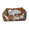 Armarkat Rose/Sandy Brown Soft Velvet Rectangular Dog Bed