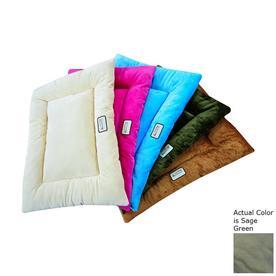 Armarkat Sage Green Soft Velvet Rectangular Dog Bed