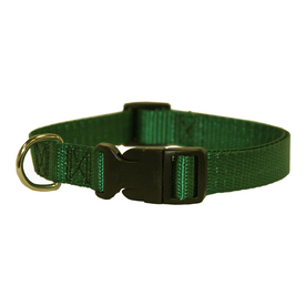 Majestic Pets Green Nylon Dog Collar