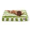 Majestic Pets Sage/White Polyester Rectangular Dog Bed