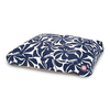 Majestic Pets Navy Blue/White Polyester Rectangular Dog Bed