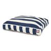 Majestic Pets Navy Blue/White Polyester Rectangular Dog Bed