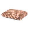 Majestic Pets Burnt Orange/White Polyester Rectangular Dog Bed