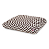Majestic Pets Chocolate/White Polyester Rectangular Dog Bed