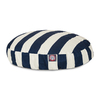 Majestic Pets Navy Blue/White Polyester Round Dog Bed