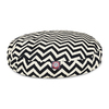 Majestic Pets Black/White Polyester Round Dog Bed
