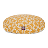 Majestic Pets Yellow/White Polyester Round Dog Bed