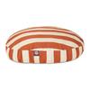 Majestic Pets Burnt Orange/White Polyester Round Dog Bed