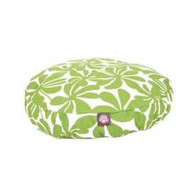 Majestic Pets Sage/White Polyester Round Dog Bed