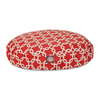 Majestic Pets Red/White Polyester Round Dog Bed
