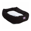 Majestic Pets Black Polyester/Cotton Twill Oval Dog Bed
