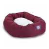 Majestic Pets Burgundy Polyester/Cotton Twill Oval Dog Bed