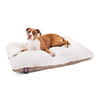 Majestic Pets Khaki/White Faux Sheepskin and Poly Cotton Rectangular Dog Bed