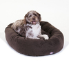 Majestic Pets Chocolate Faux Microsuede Oval Dog Bed