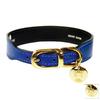 Hartman & Rose Cobalt Blue Leather Dog Collar