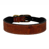 Hartman & Rose Burnt Umber Leather Dog Collar