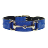 Hartman & Rose Cobalt Blue Leather Dog Collar