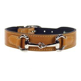Hartman & Rose Buckskin Leather Dog Collar