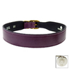 Hartman & Rose Purple Leather Dog Collar