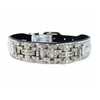 Hartman & Rose Metallic Silver Leather Dog Collar