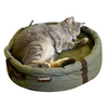 ABO Gear Olive Natural Cotton Round Dog Bed