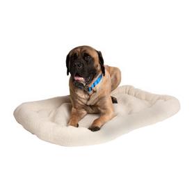 Great Paw Caramel Sheepskin Rectangular Dog Bed