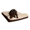 Great Paw Brown Microfiber and Sherpa Fleece Rectangular Dog Bed