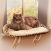 K&H Manufacturing Tan Kitty Print Polyester/Cotton Oval Cat Bed