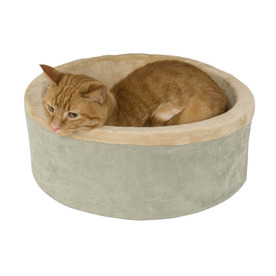 K&H Manufacturing Sage Polyester Round Cat Bed