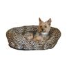 K&H Manufacturing Brown Leopard Round Dog Bed