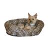 K&H Manufacturing Brown Leoprard Rectangular Dog Bed