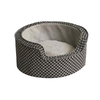 K&H Manufacturing Gray/Black Round Dog Bed
