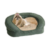 K&H Manufacturing Eggplant Soft Velvety and Microsuede Rectangular Dog Bed