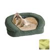 K&H Manufacturing Green Soft Velvety and Microsuede Rectangular Dog Bed