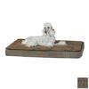 K&H Manufacturing Mocha Paw Bone Print Polyester/Cotton Rectangular Dog Bed