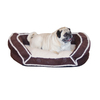 K&H Manufacturing Eggplant Paw Microsuede and Faux Lambs Wool Dog Bed