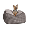 K&H Manufacturing Black Microsuede and Quilted Fleece Square Dog Bed