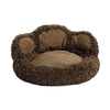 midwest pets Chocolate Synthetic Fur Round Dog Bed