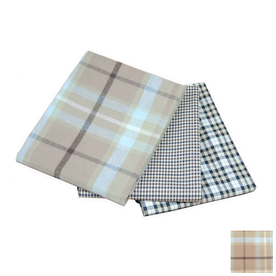 Carolina Pet Company Blue/Brown Plaid Polyester with PVC Backing Rectangular Dog Bed