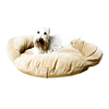 Carolina Pet Company Caramel Velvet Microfiber Oval Dog Bed