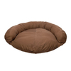 Carolina Pet Company Chocolate Cotton Canvas Oval Dog Bed