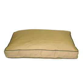 Carolina Pet Company Khaki Cotton Twill Rectangular Dog Bed