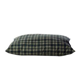 Carolina Pet Company Green Plaid Polyester Rectangular Dog Bed