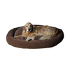 Carolina Pet Company Chocolate Microfiber Oval Dog Bed