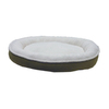Carolina Pet Company Willow Faux Suede and Cloudy Sherpa Oval Dog Bed