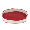 Carolina Pet Company Red Cotton Canvas Oval Dog Bed